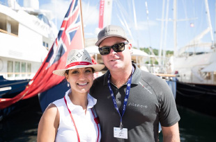 couple at yacht show